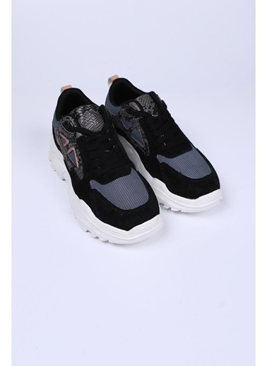 Female Project Siyah Hakiki Deri Sneaker Siyah